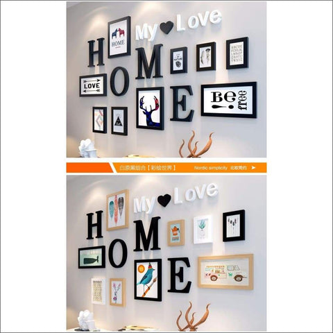 Home & Family 9PC Photo Frame Set - Canvas Paintings Under $1,000