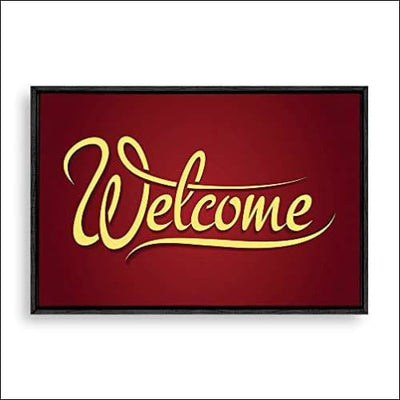 Welcome Home Framed Canvas Painting
