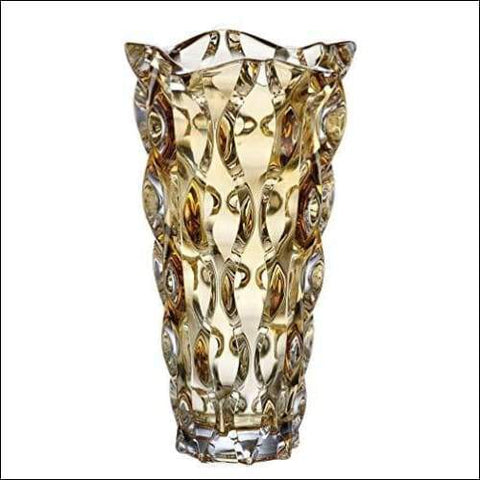 luxury expensive glass tabletop flower vase