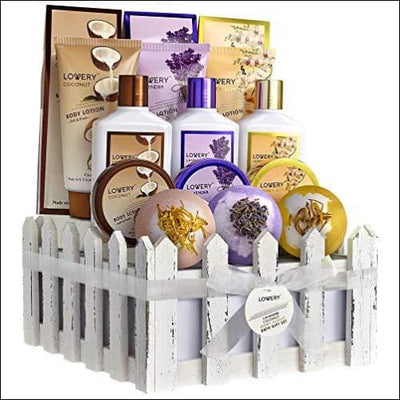 Honey Lavender Jasmine 16PC Spa Gift Basket