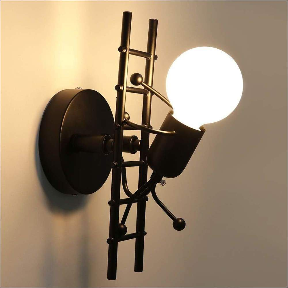 Humanoid Wrought Iron Modern Wall Lamp - Wall Lamps