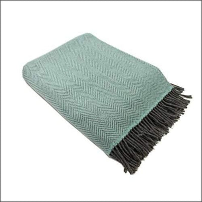 Irish Cashmere Merino Wool Throw Blanket - 54 x 71 Inches