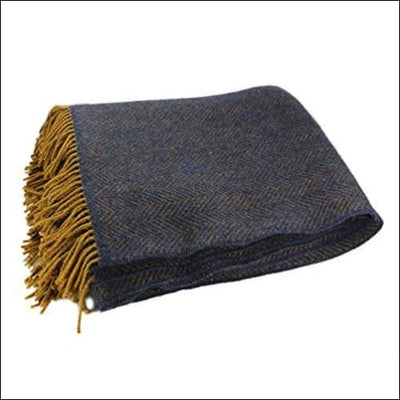 Irish Merino Wool Cashmere Throw Blanket - 54 x 71