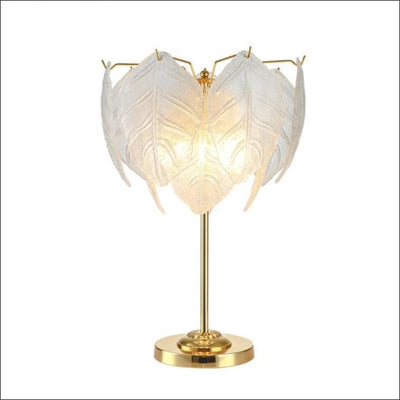 Iron Frosted Glass Leaf Table Lamp