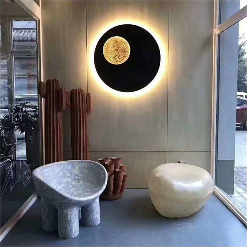 Iron Sconce Moon Wall Lamp
