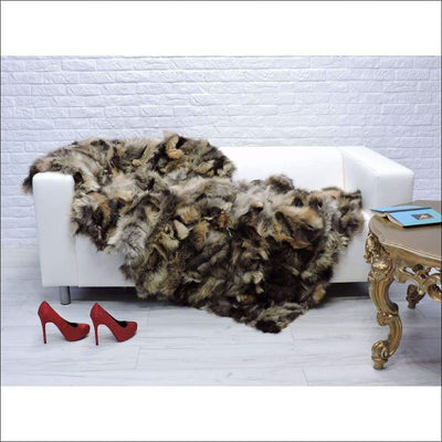 Italian Fox Fur Luxury Throw Blanket