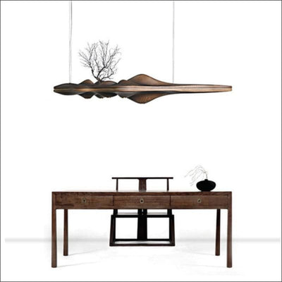 Japanese Ash Wood Pendant Ceiling Lamp