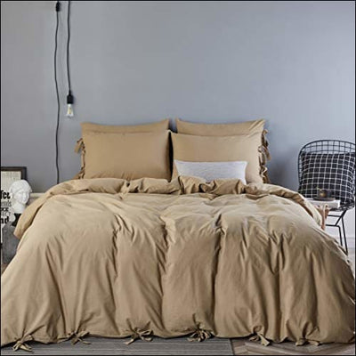 Khaki Butterfly Bowknot 3PC Bedding Set