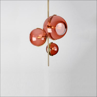 Lava Orb Pendant Ceiling Lamp - Red