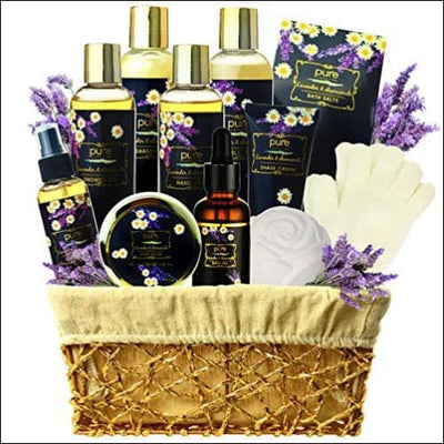 Lavender Chamomile 8PC Spa Gift Basket