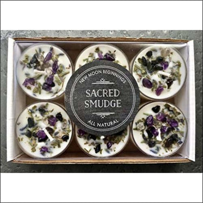 Lavender Sage Cedar 6PC Scented Soy Candle Set