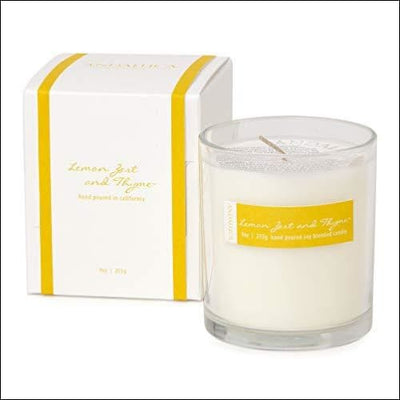 Lemon Zest & Thyme Scented Soy Candle - Candles