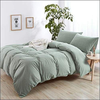 Light Green Ultra Soft Cotton 3PC Bedding Set