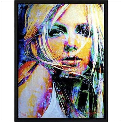 Limited Edition Britney Spears Framed Canvas Painting