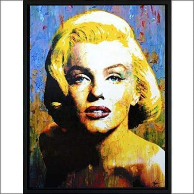 Limited Edition Marilyn Monroe Framed Canvas Painting