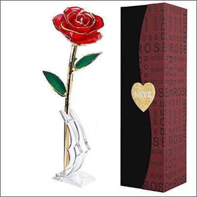Long Stem 24K Gold Luxury Rose Box