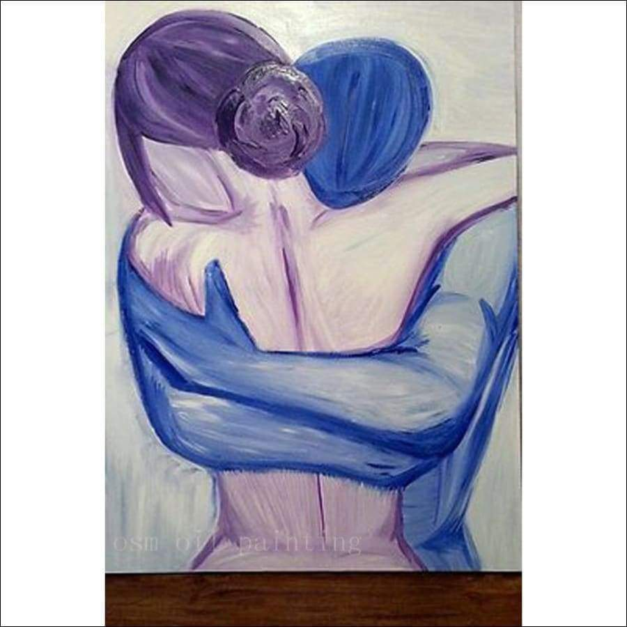 Love Embrace Framed Canvas Painting