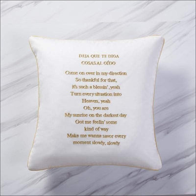 Luxury Decorative Note Throw Pillow