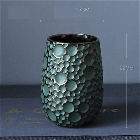 Luxury Dense Moon Crater Tabletop Flower Vase - Home & Garden
