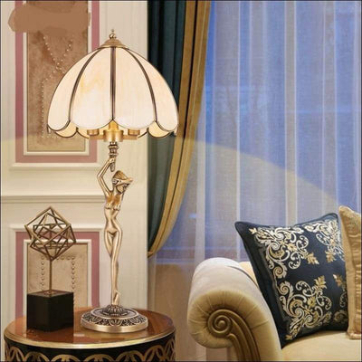 Luxury European Pure Copper Table Lamp