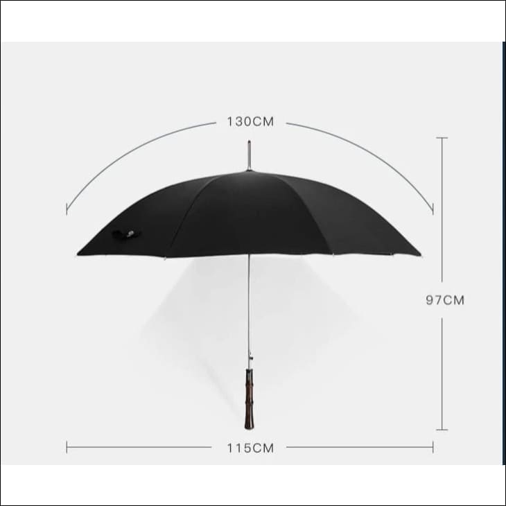 Luxury Long Handle Solid Wood Umbrella - Gifts For Him Under $500