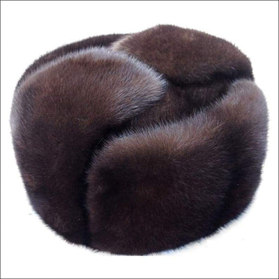 Luxury Mink Fur Casual Bomber Cap