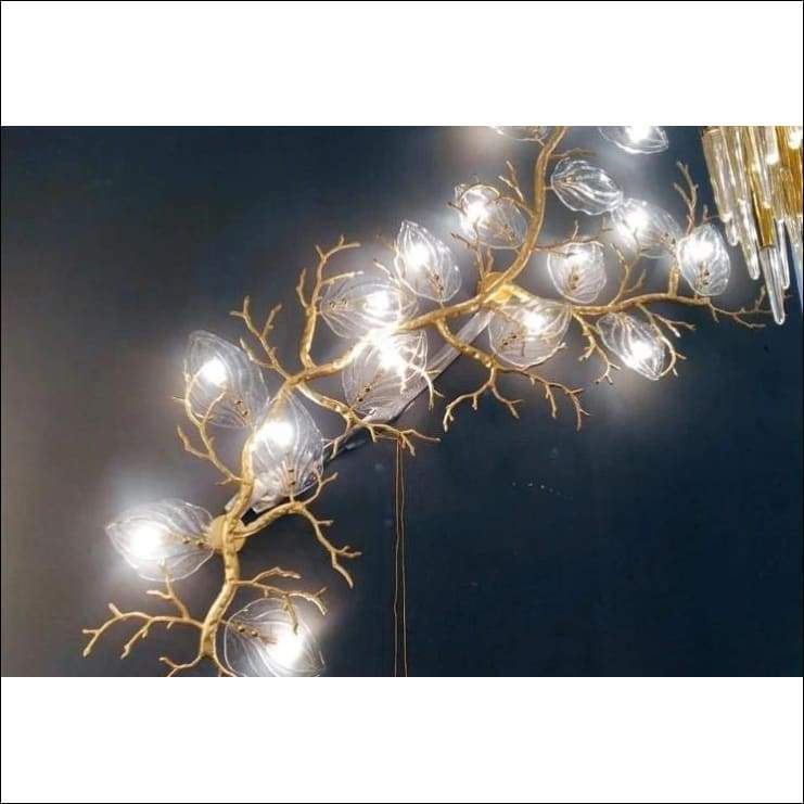 Luxury Villa Branch Copper Wall Lamp - Lamps & Lighting