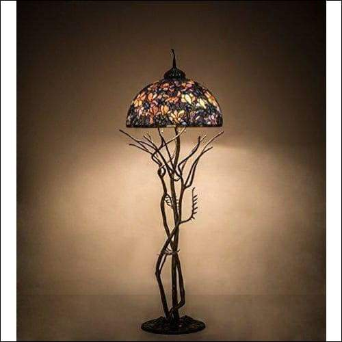 Magnolia Stained Glass Floor Lamp - Lamps & Lighting