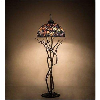 Magnolia Stained Glass Floor Lamp