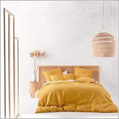 Mango Yellow Chambray 3PC Bedding Set