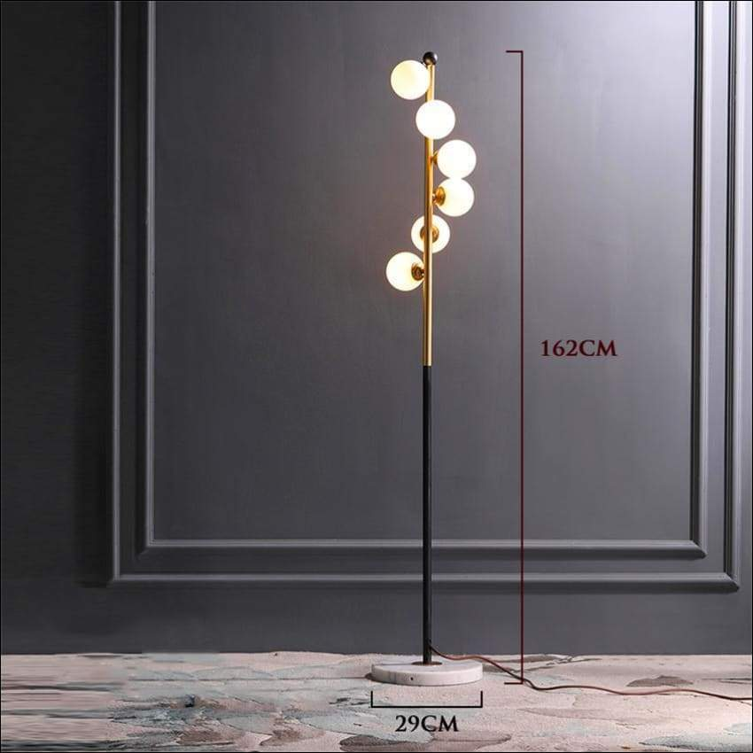 Marble Frosted Glass Orbs Floor Lamp