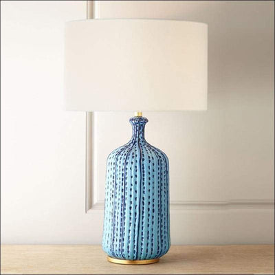 Mediterranean Sea Rural Blue Table Lamp