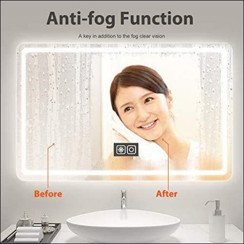 touch lighted wall mounted mirror