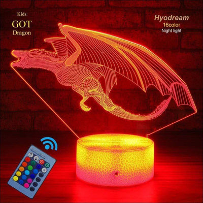 Mighty Dragon 3D Night Light Lamp