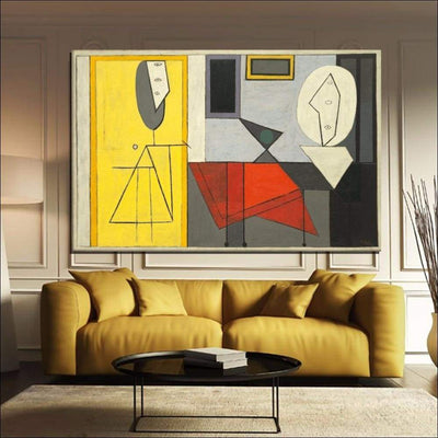 Modern Classic Picasso Framed Canvas Painting