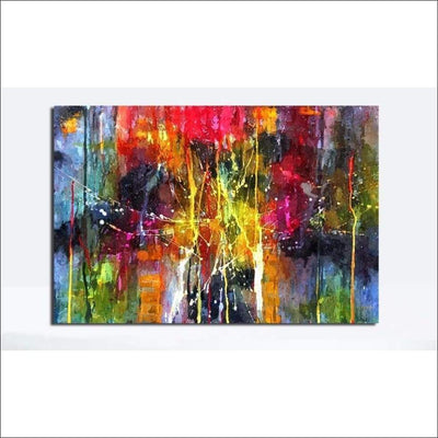 ''Modern Colors'' Framed Canvas Painting