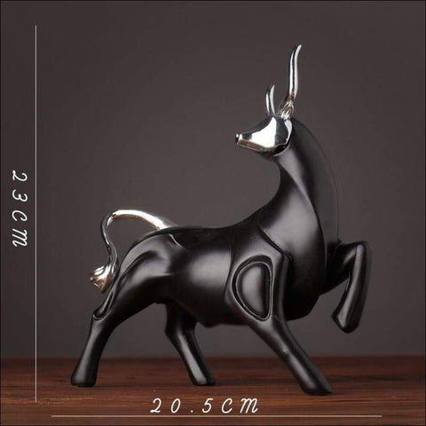 Modern Wall Street Bull Tabletop Sculpture