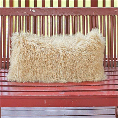 Mongolian Tibetan Lamb Fur Pillow Cover