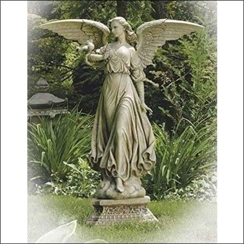 Monumental Roman Divine Angel Floor Statue