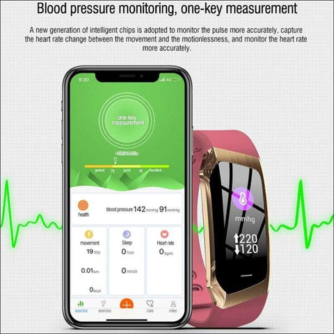 blood pressure monitor smart wrist watch