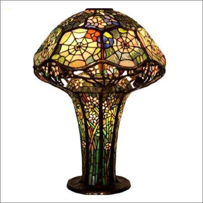 Mushroom Orchid Spider Web Table Lamp
