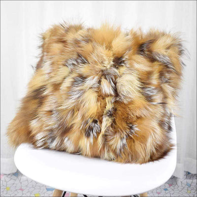 Natural Fox Fur Pillow Cover