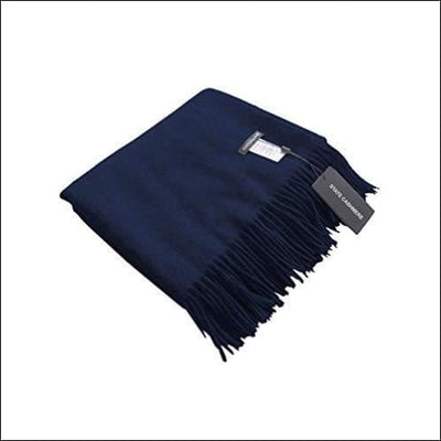 Navy Mongolian Cashmere Throw Blanket - 60 x 50 Inches