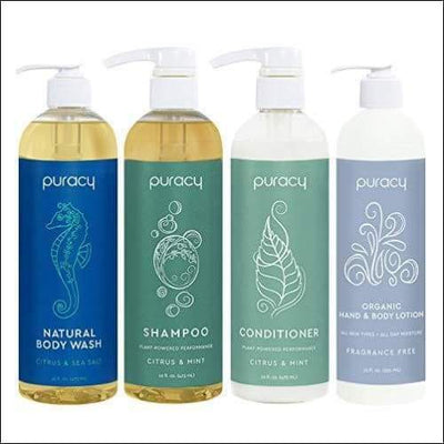 Organic Plant-powered 4PC Hair & Skin Care Set