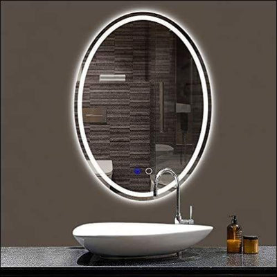 Oval Anti-Fog Lighted Wall Mounted Mirror