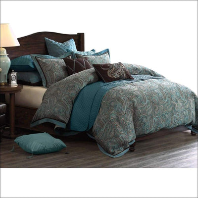 Paisley Jacquard Duvet Embroidery 8PC Bedding Set