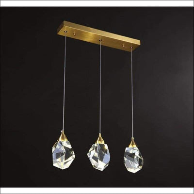 Polished Crystal Rock Pendant Ceiling Lamp