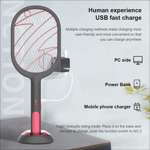 portable electric mosquito swatter lamp