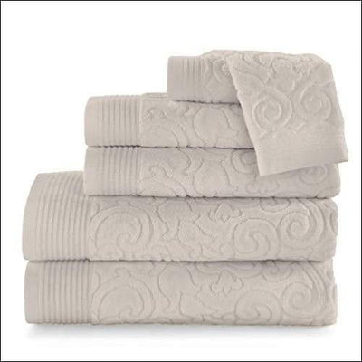 Portugal Imported Embroidered 6PC Bath Towel Set