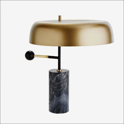 Postmodern Black Marble Stone Table Lamp